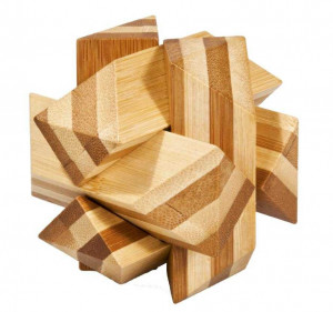 Joc logic IQ din lemn bambus Angular Knot
