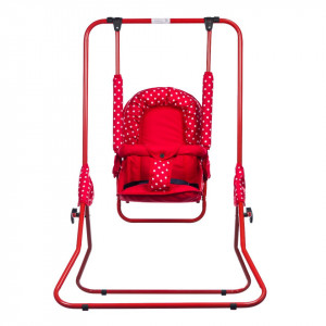 Leagan pentru copii, Top Kids, cu spatar reglabil, Red Mini
