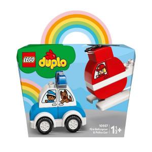 LEGO DUPLO ELICOPTER DE POMPIERI SI MASINA DE POLITIE 10957