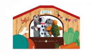 Papusi tricotate pentru Teatru cu papusi, Animale Londji