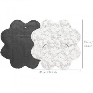 Paturica floare imprimata Black Wallaboo