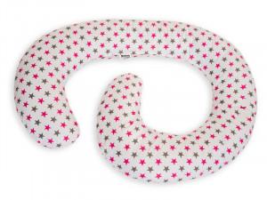 Perna De Alaptare Multifunctionala MyKids White Grey-Pink
