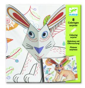 Planse de desenat cu surprize Djeco, Bunny up
