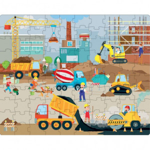 Puzzle (30 piese) cu carte - Vehicule