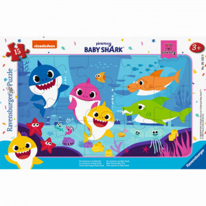 PUZZLE BABY SHARK, 15 PIESE