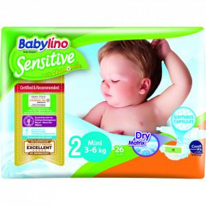 Scutece Babylino Sensitive N2 3-6kg/26 buc