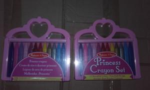 Set creioane colorate triunghiulare Princess Melissa and Doug 12 buc