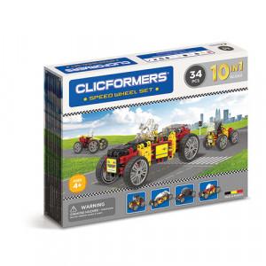 Set de construit Clicformers- Masini de viteza, set 34 piese