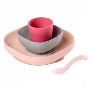 Set de masa silicon 4 piese roz