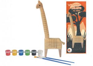 Set de pictat Egmont, girafa din lemn