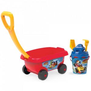 Set jucarii nisip Smoby Carucior Mickey cu accesorii