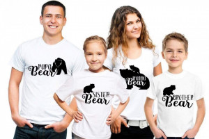 Set Printat Family Bear