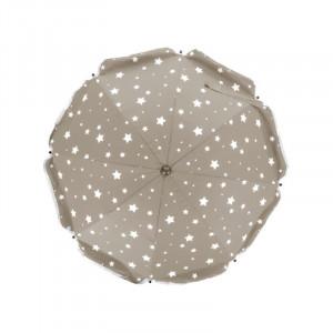 Umbrela pentru carucior 82 cm UV 50+ Stelute Natur Fillikid