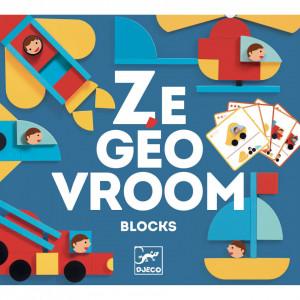 Ze GeoVroom Djeco, joc de construit cu piese geometrice
