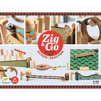 Zig & Go Djeco, set de constructie trasee, 48 piese