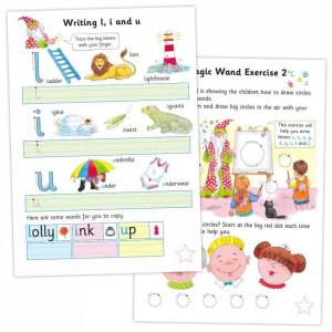 Carte cu activitati si abtibilduri - Scrisul de mana - Carte povesti pentru copii