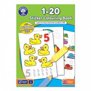 Carte de colorat cu activitati in limba engleza si abtibilduri 1 - 20