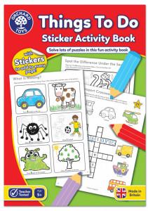 Carte de colorat cu activitati in limba engleza si abtibilduri Lucruri de Facut THINGS TO DO