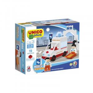 Joc de construit Unico Ambulance 19 pcs. A Haberkorn