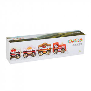 Jucarie din lemn, Cubika, Trenuletul cu prajituri