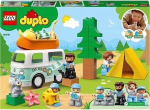 LEGO DUPLO AVENTURA CU RULOTA DE VACANTA A FAMILIEI 10946