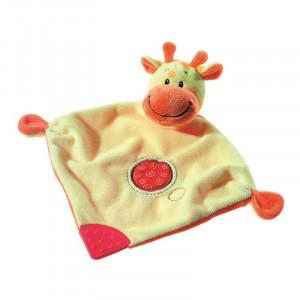Mini paturica de somn cu jucarie Girafa Heunec A Haberkorn