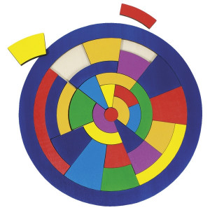 Puzzle circular Combinatii de culori