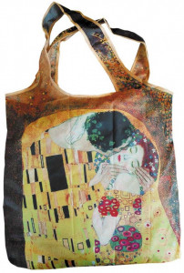 Sacosa textil Klimt The kiss