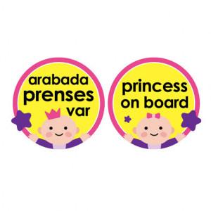 Semn luneta Baby/Prince/Princess on board cu ventuza