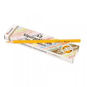 Set 12 creioane colorate Goldline 3.7 mm Galben inchis - Heutink
