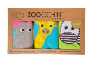 Set 3 Chilotei Antrenament, Zoocchini, Fetita, 2-3 ani, 100% Bumbac Organic, Safari