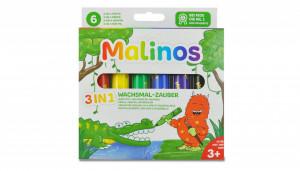 Set creioane retractabile - 6 culori