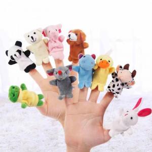 Set de 10 marionete pentru degete - animale