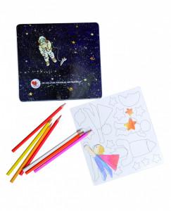 Set de desen cu piese magnetice, Astronaut