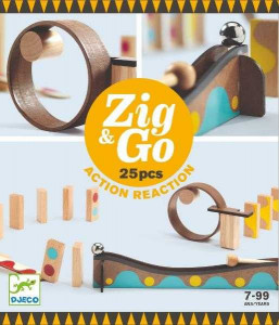 Zig & Go Djeco, set de constructie trasee, 25 piese
