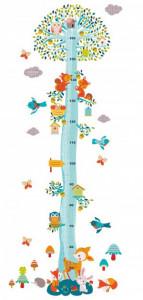 Abtibilduri masuratoare pentru copii, Veverite in copac