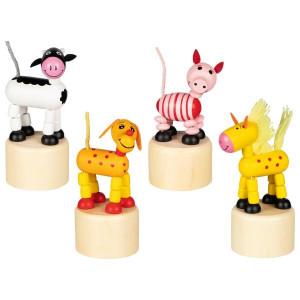 Animalute mobile din lemn - 4 modele asortate