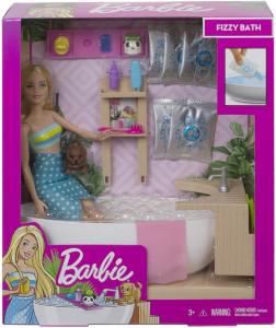 BARBIE SET CU PAPUSA O BAIE RELAXANTA