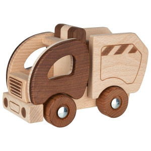Camion de gunoi din lemn - Goki Nature