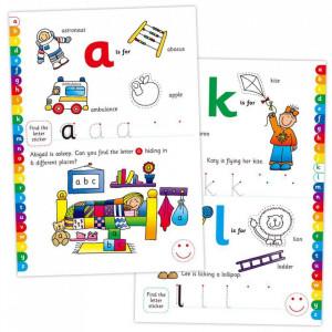 Carte cu activitati si abtibilduri - Alfabet - Carte povesti pentru copii