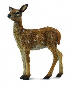 Figurina pui de Cerb Rosu pictata manual S Collecta