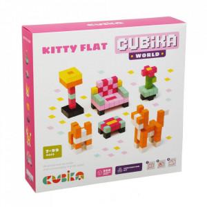 Joc Din Lemn, Set de constructii, Cubika, World Kitty Flat