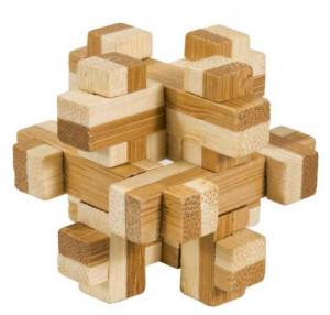 Joc logic IQ din lemn bambus in cutie metalica-10