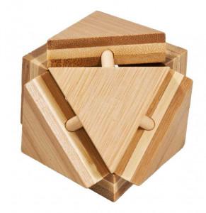 Joc logic IQ din lemn bambus Triangleblock