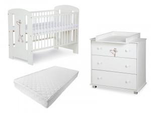 Mobilier Camera copii Si Bebelusi KLUPS SAFARI GIRAFFE Alb 2