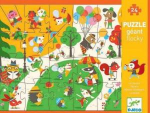 Puzzle gigant Djeco in parc