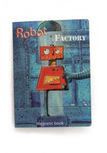 Puzzle magnetic cu roboti
