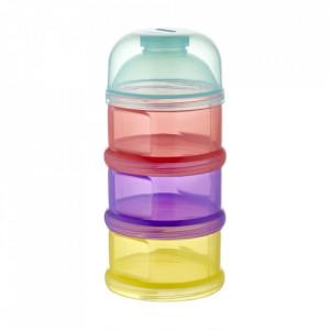 Recipient lapte praf BabyJem cu 3 compartimente Multicolor