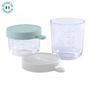 Set 2 recipiente sticla 150/250ml - Verde