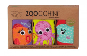 Set 3 Chilotei Antrenament, Zoocchini, Fetita, 2-3 ani, 100% Bumbac Organic, Ocean